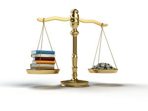 Books Money Scale