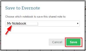 SaveToEvernoteNotebook