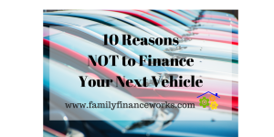 10 Reasons to Pay Cash for your next car